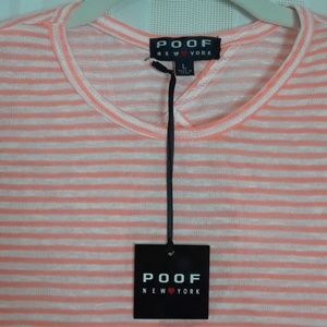 NWT POOF New York long sleeve striped tee size L